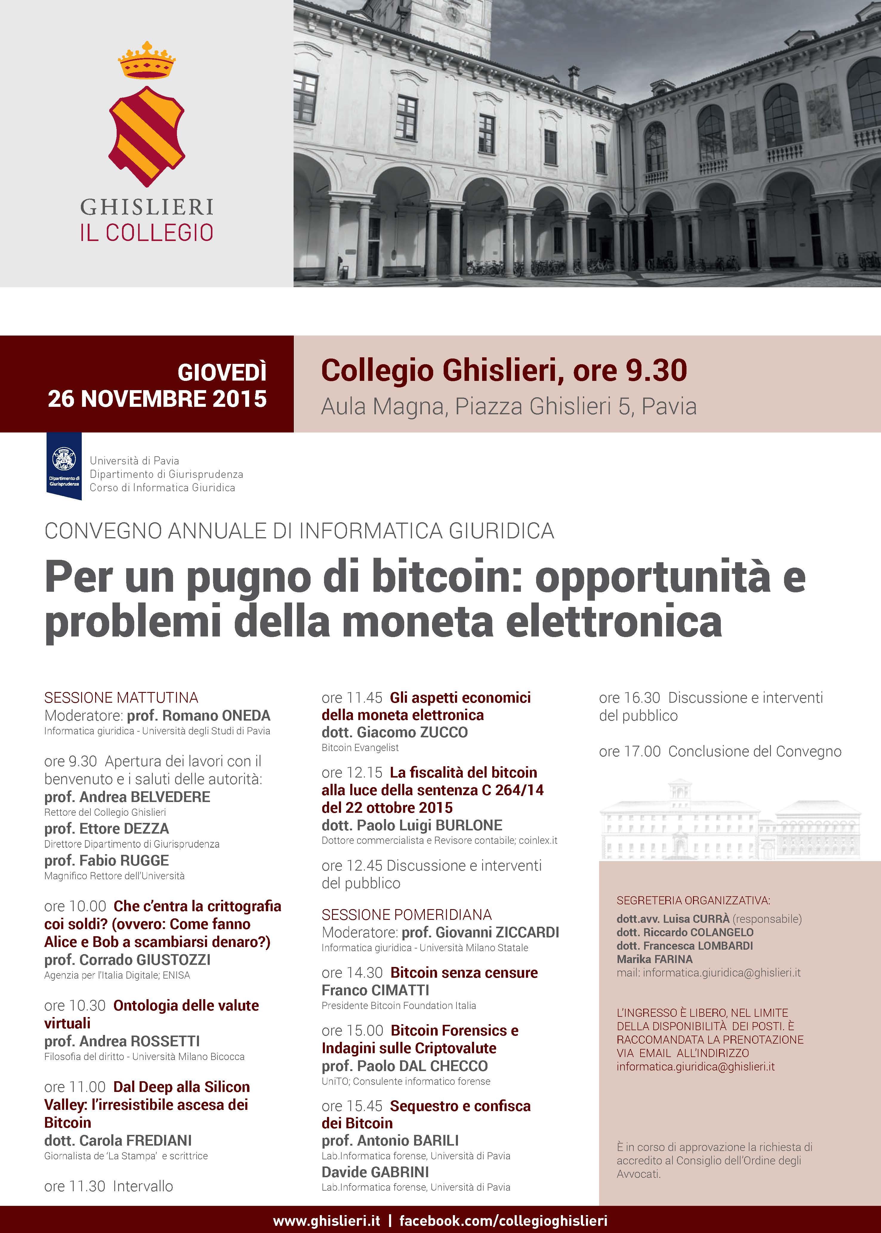 Avvocato Girolamo De Rada Bitcoin